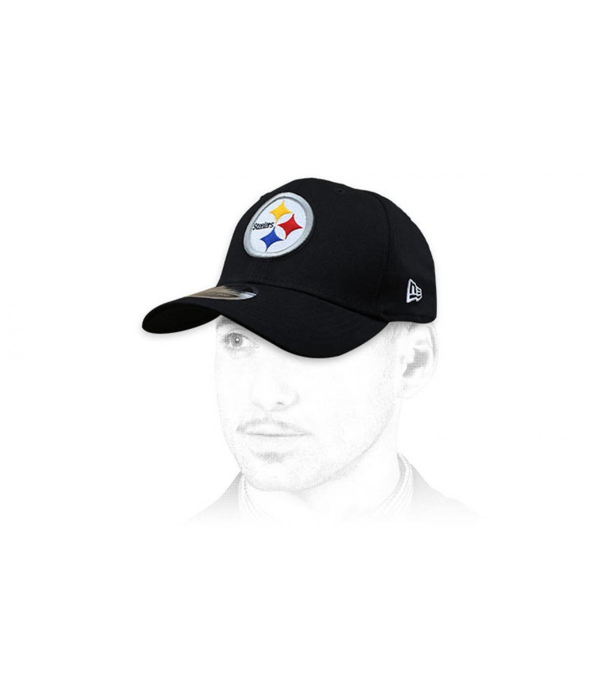 Zwarte Steelers cap
