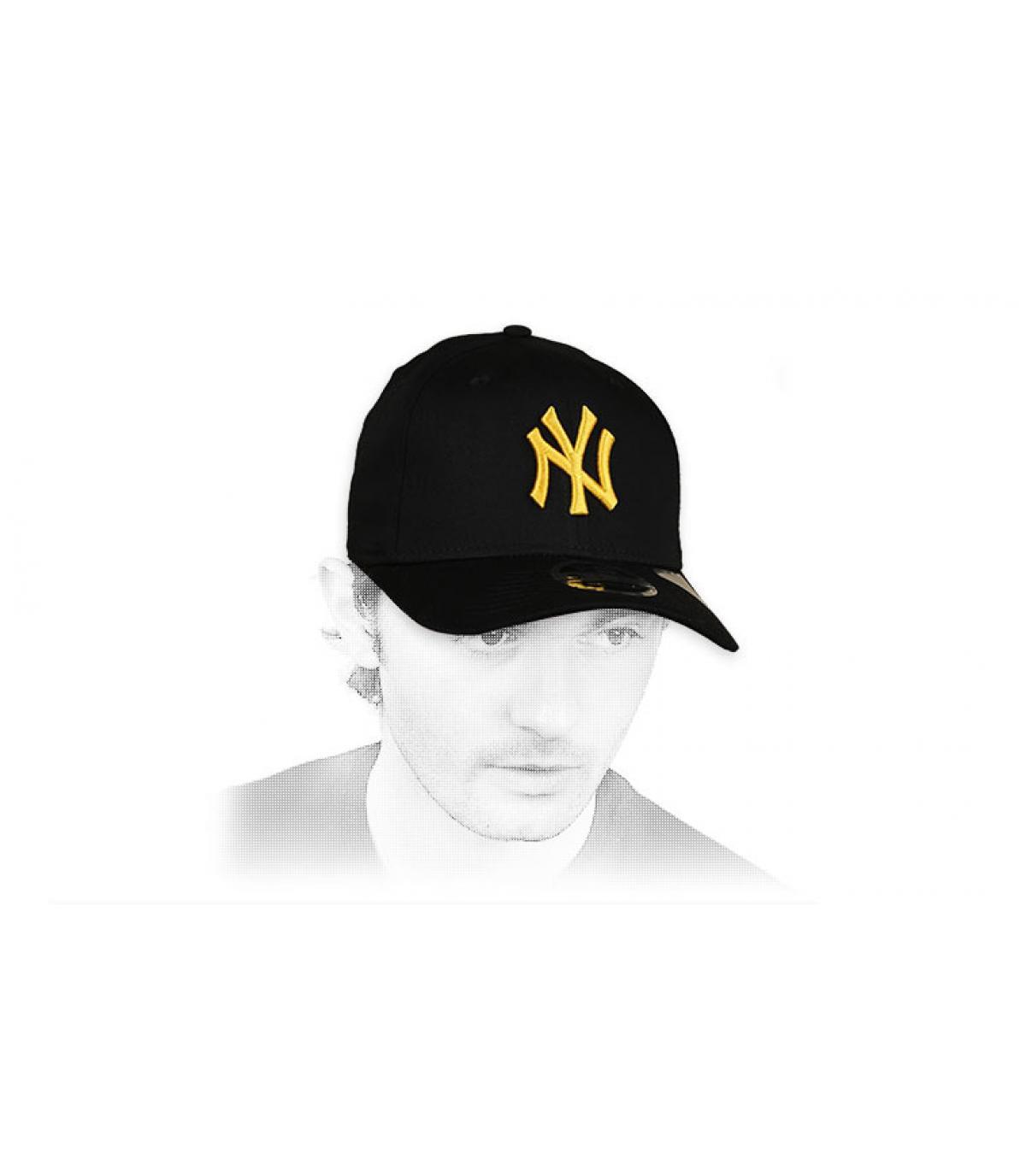 cap NY zwart geel