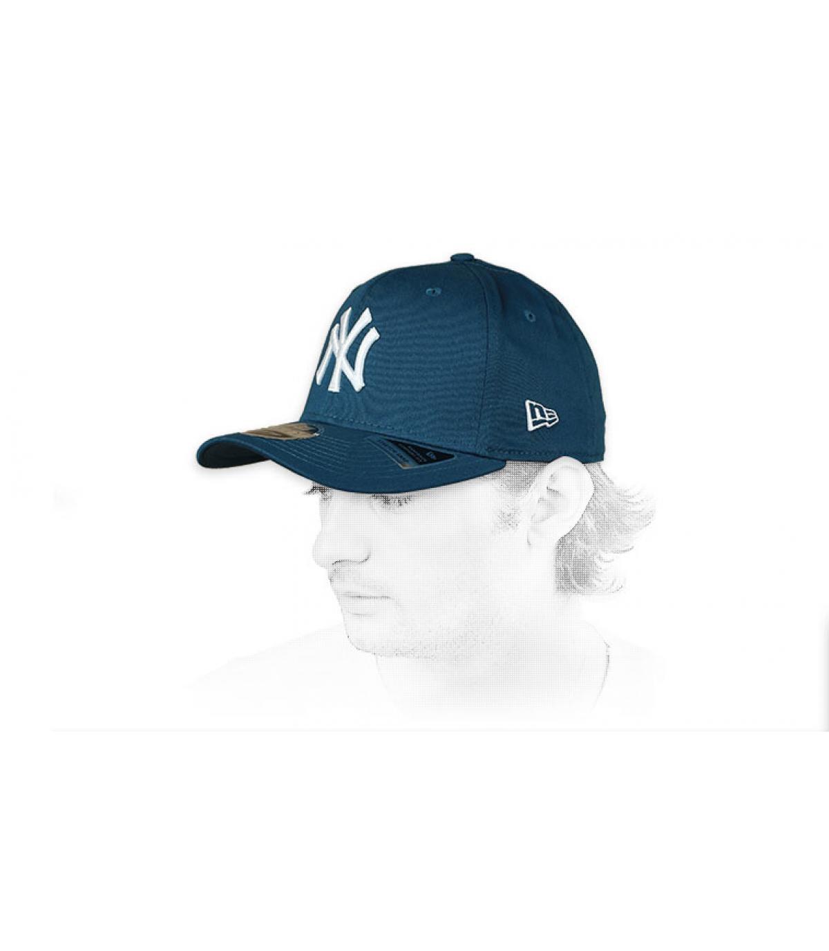 cap NY blauw wit