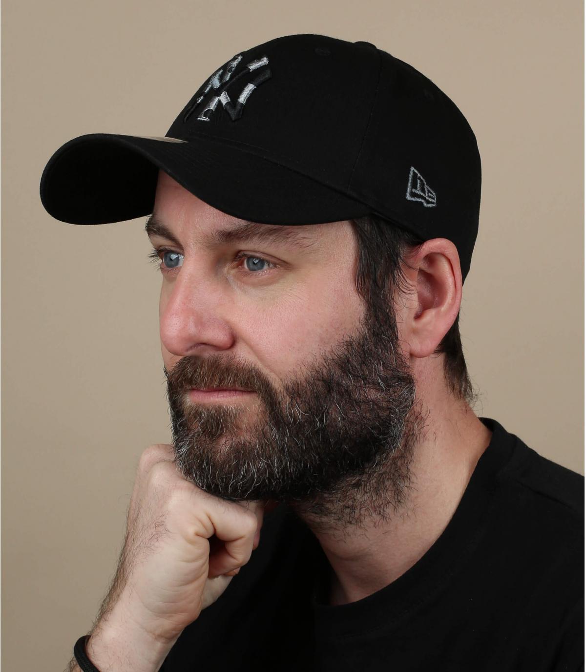 NY zwarte camo cap
