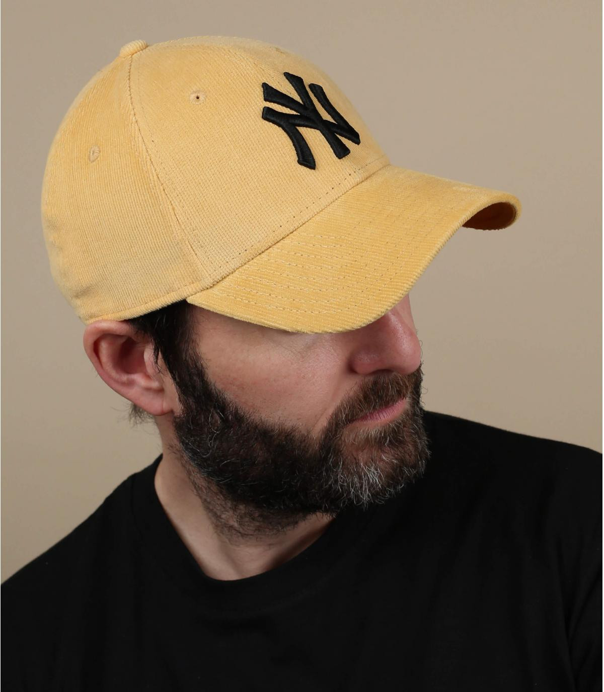 NY gele fluwelen pet