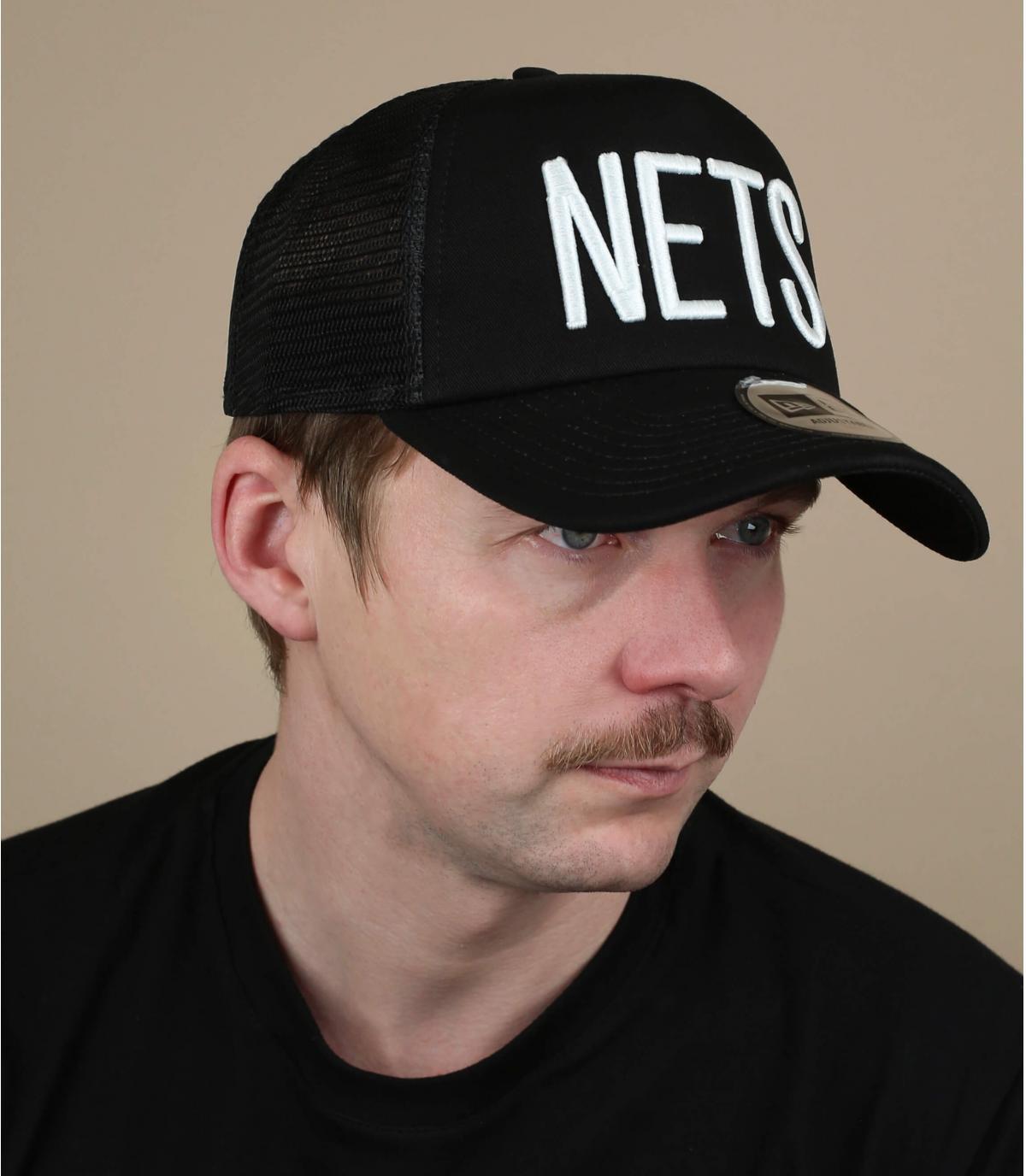 zwarte Nets trucker