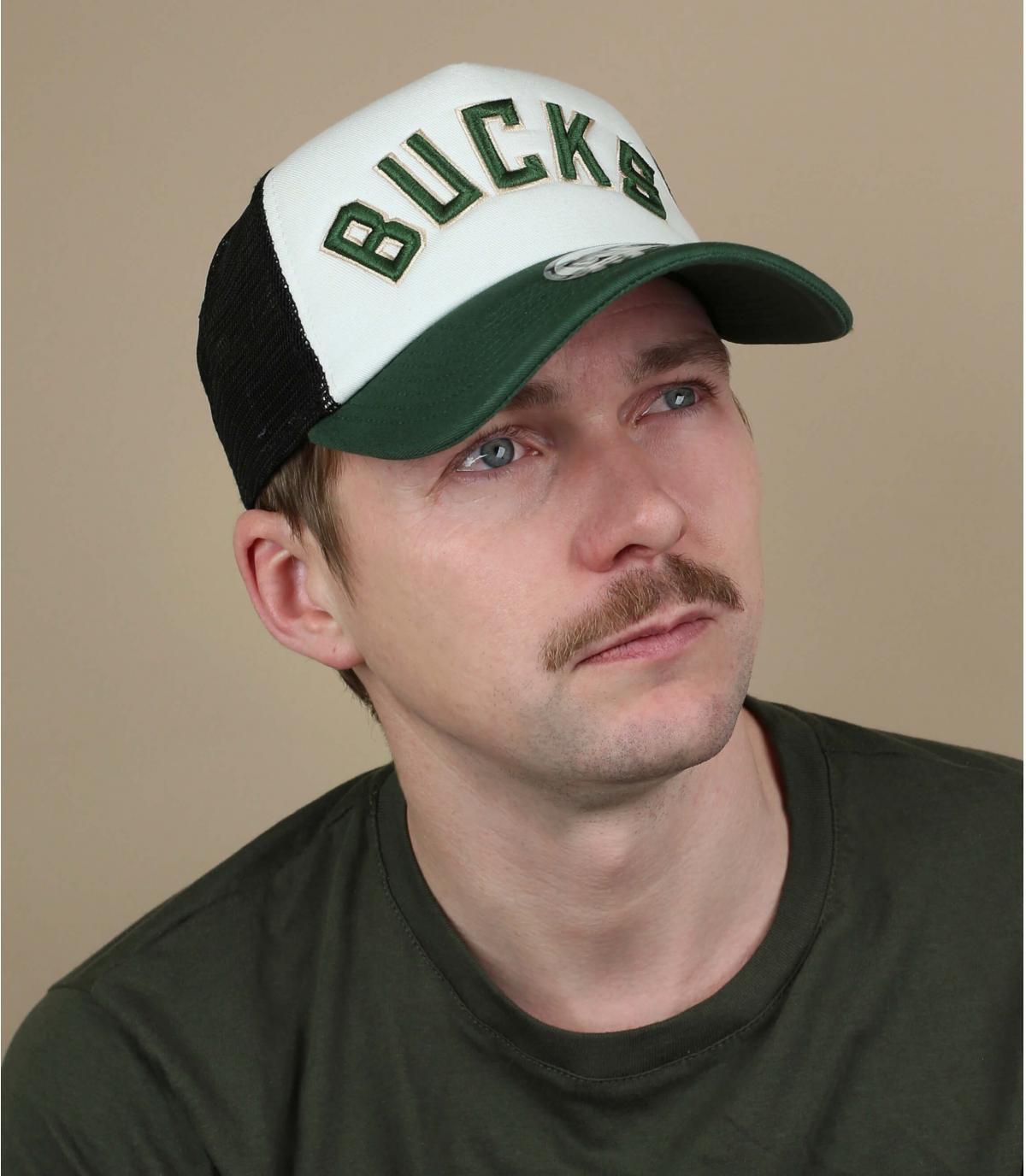 trucker Bucks wit groen