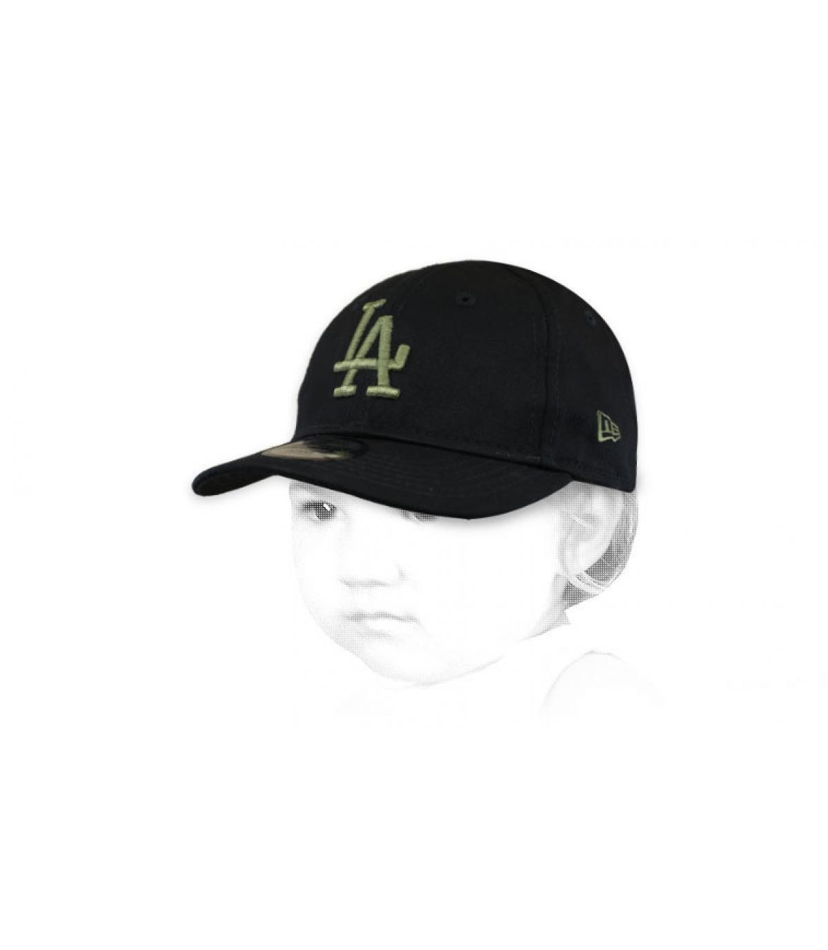 baby cap LA zwart