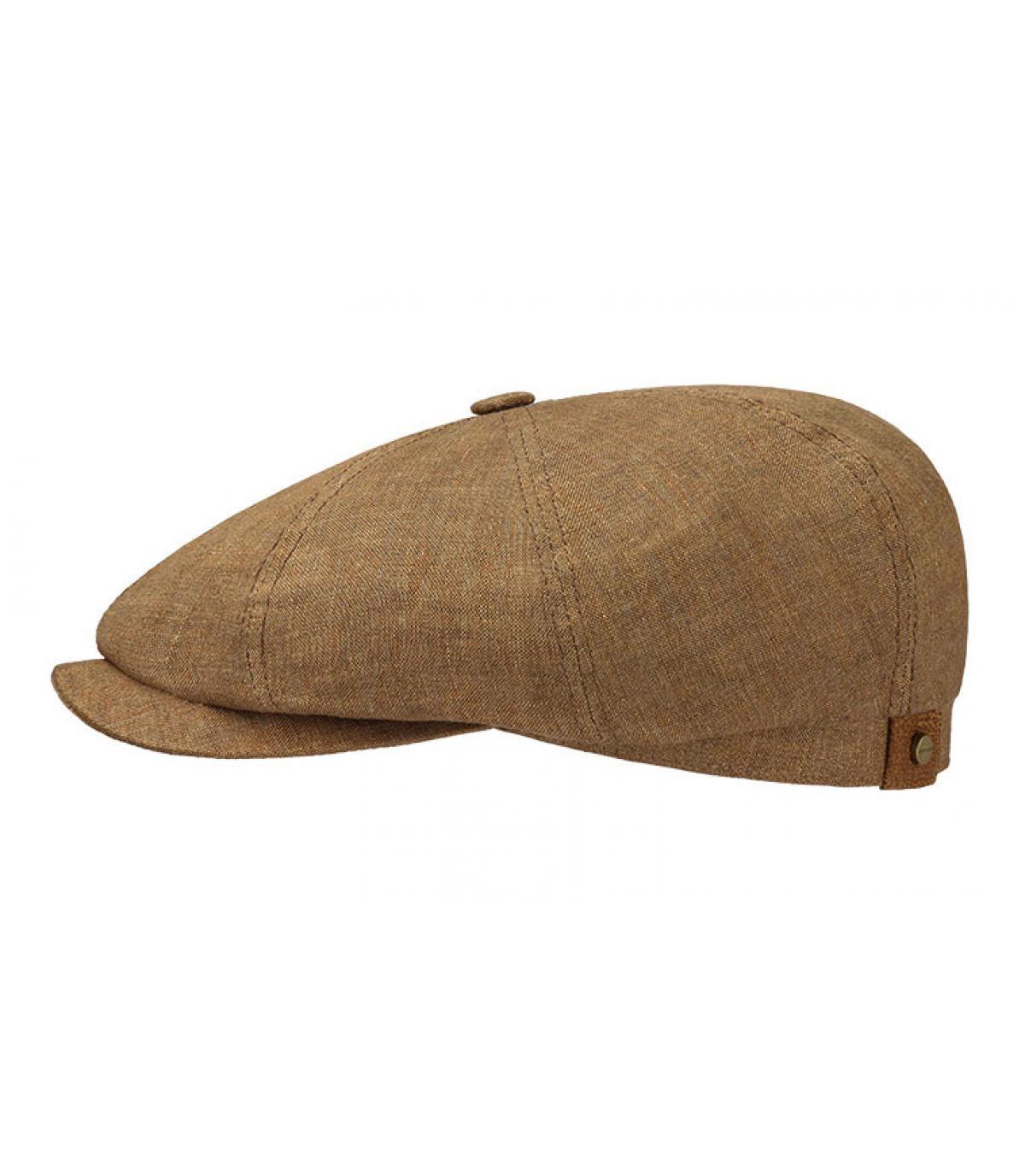 bruine linnen gravroche baret