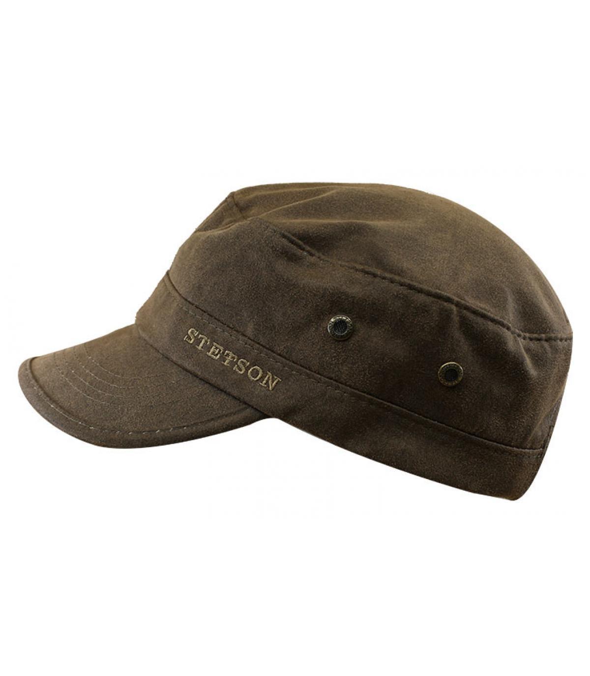 Details Army Cap CO/PES brown - afbeeling 2