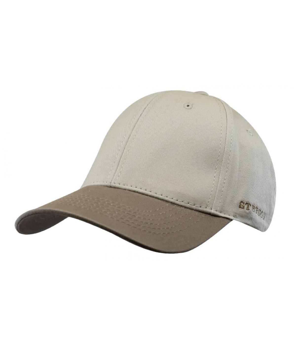 Details Baseball Cap Cotton brown beige - afbeeling 2