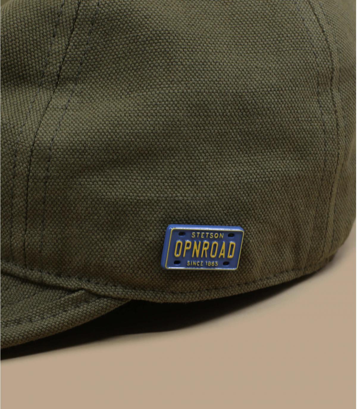 Details Engineer Cap Cotton Linen olive - afbeeling 2