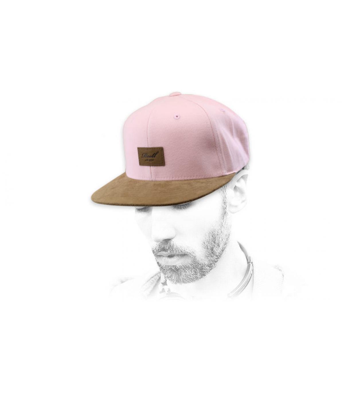 snapback roze suede Reell