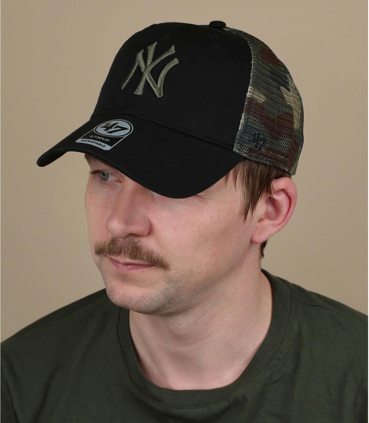 zwarte camo NY cap