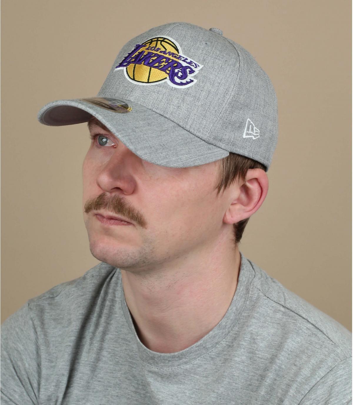 grijze Lakers cap