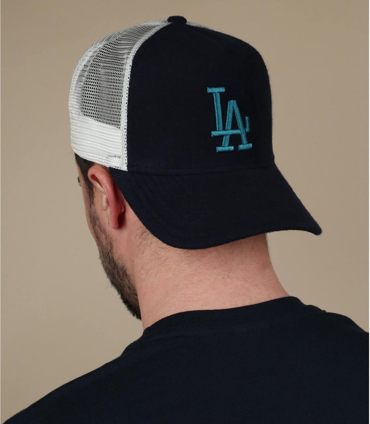 blauwe LA trucker