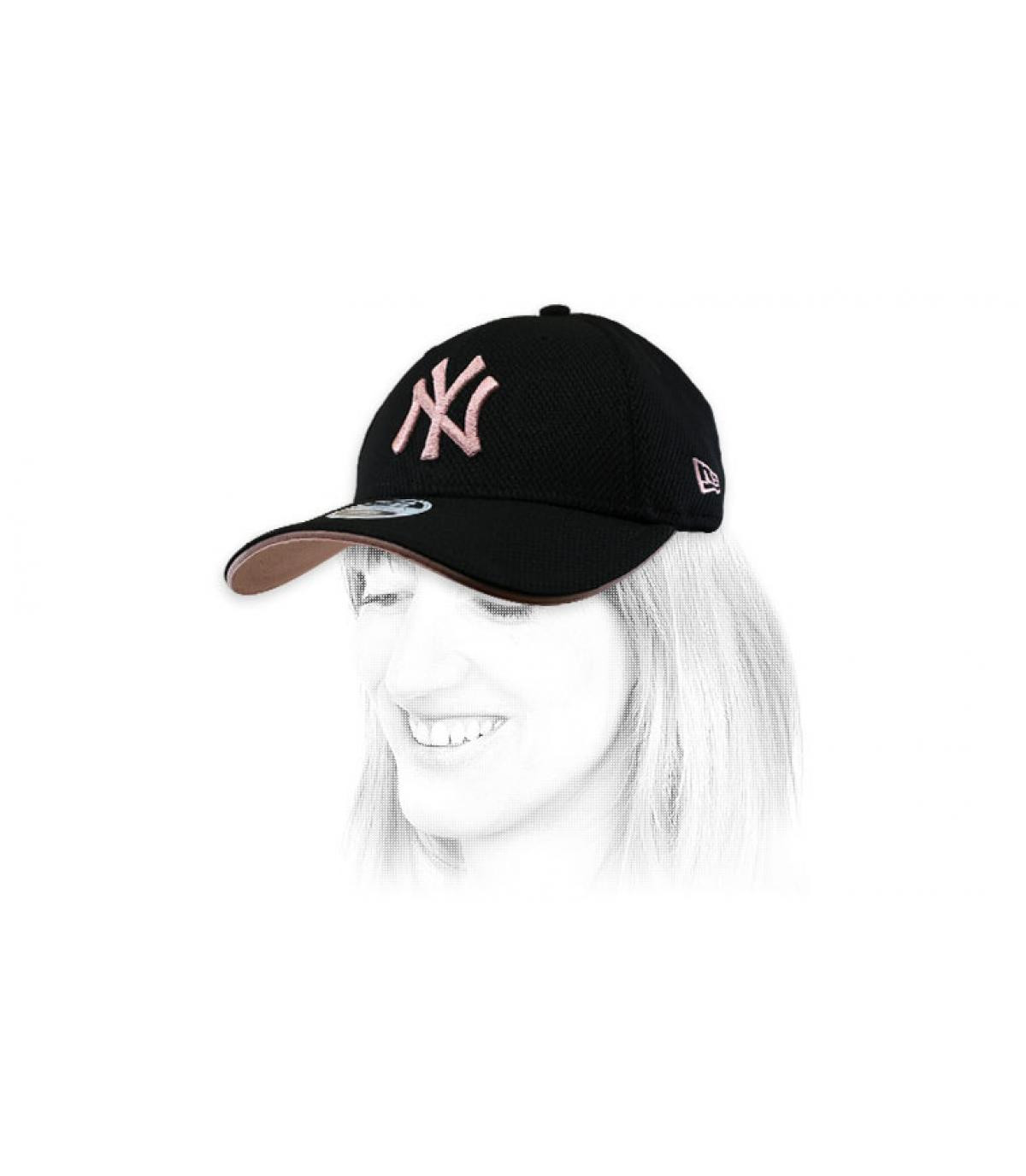 NY zwart roze damesmuts
