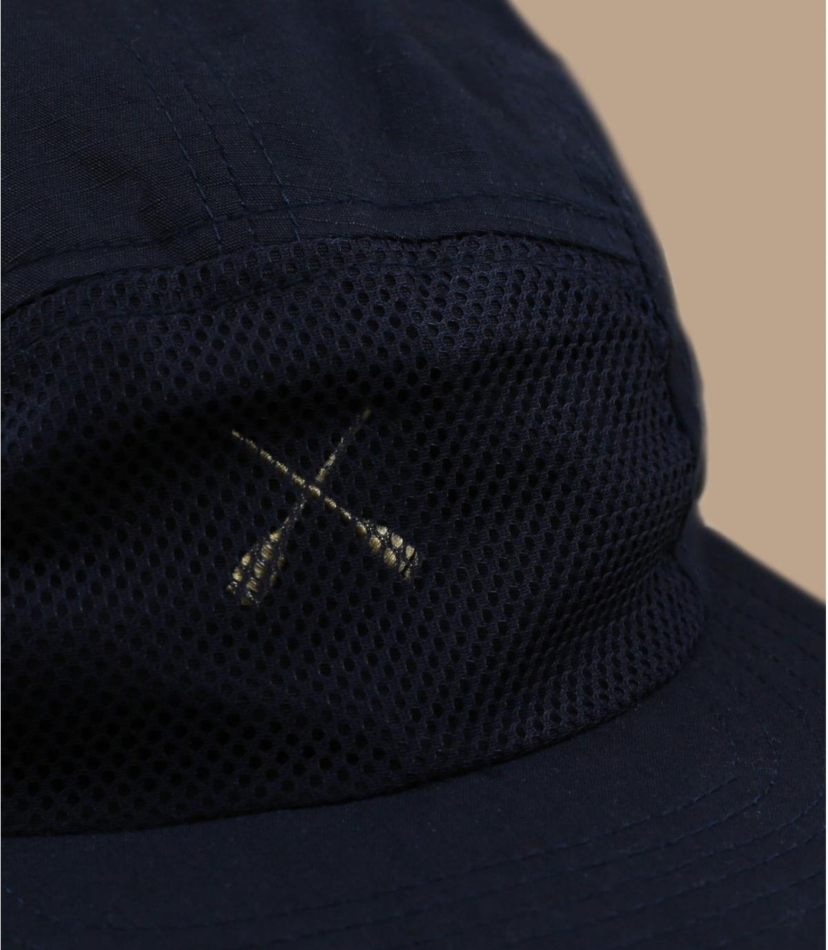marineblauw cap met 5 panelen