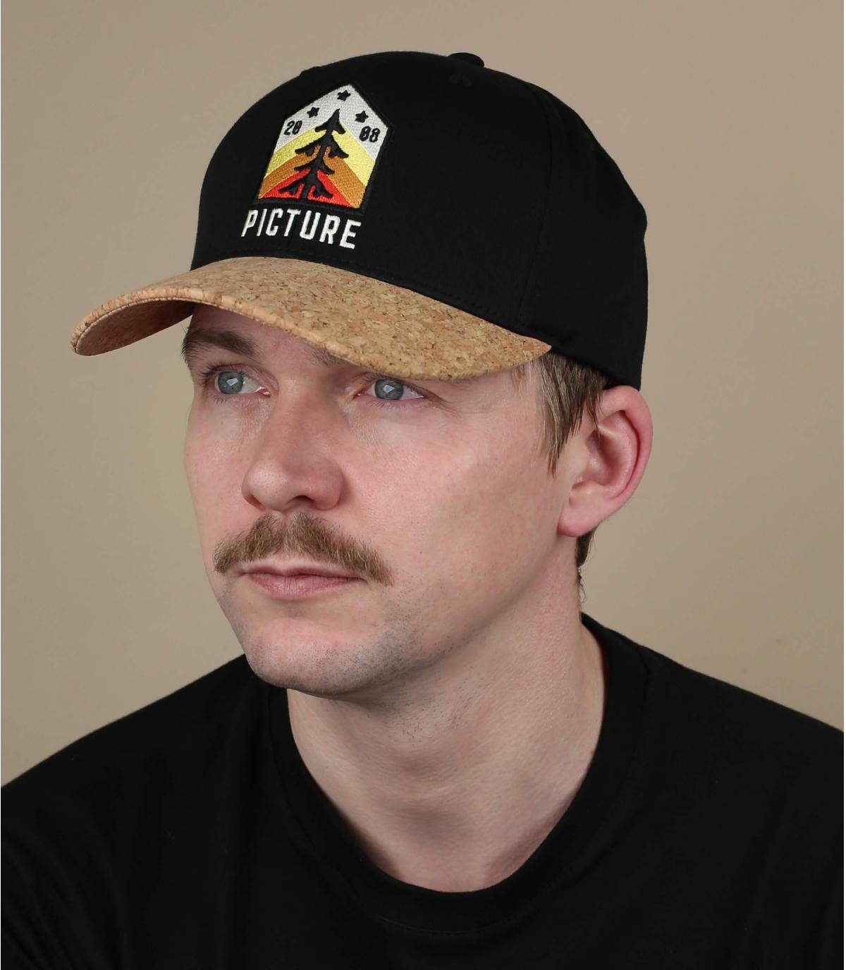 Picture cap zwarte spar