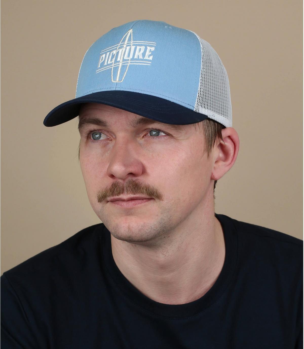 Picture trucker blauw