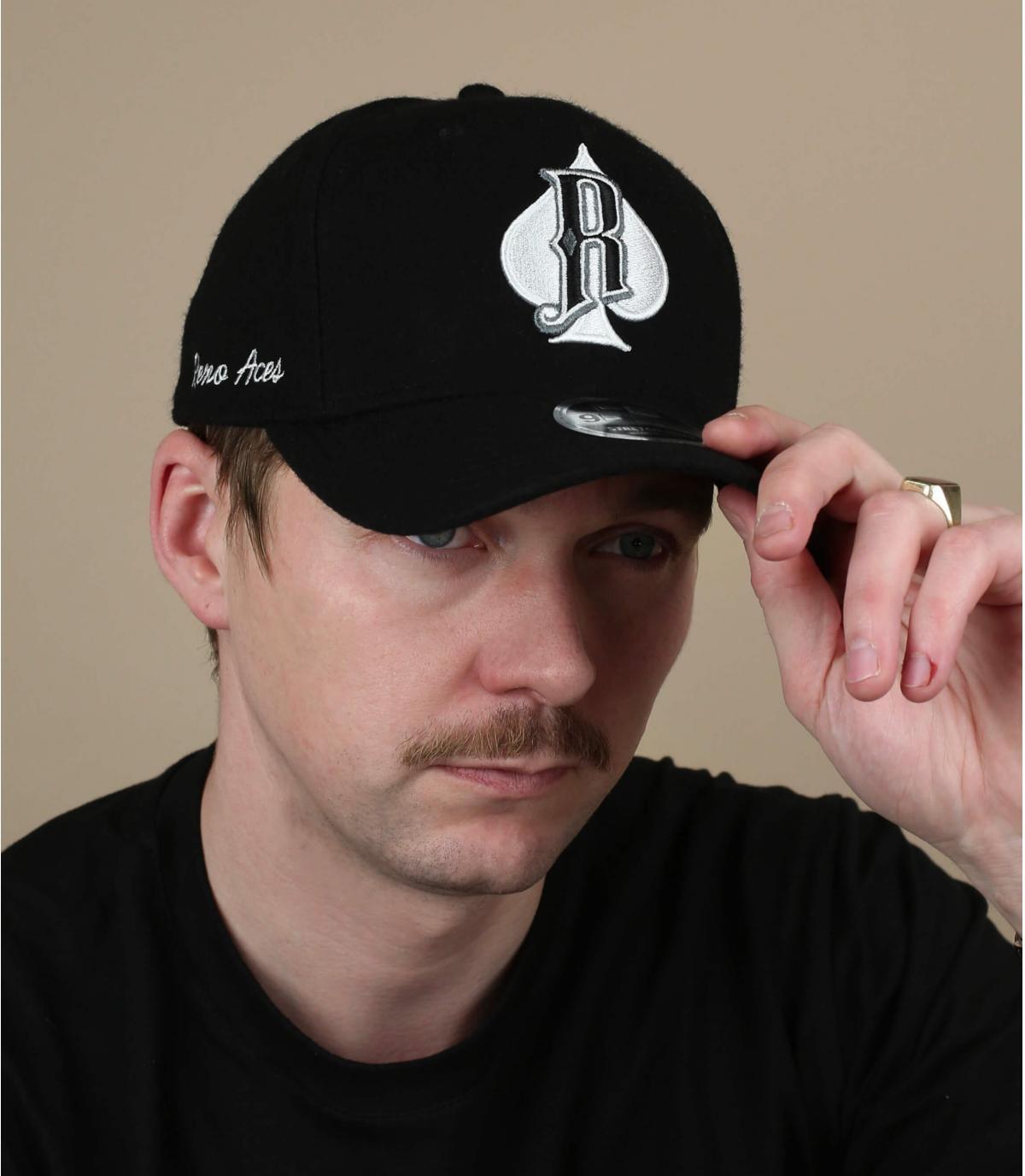 zwarte Reno Aces cap