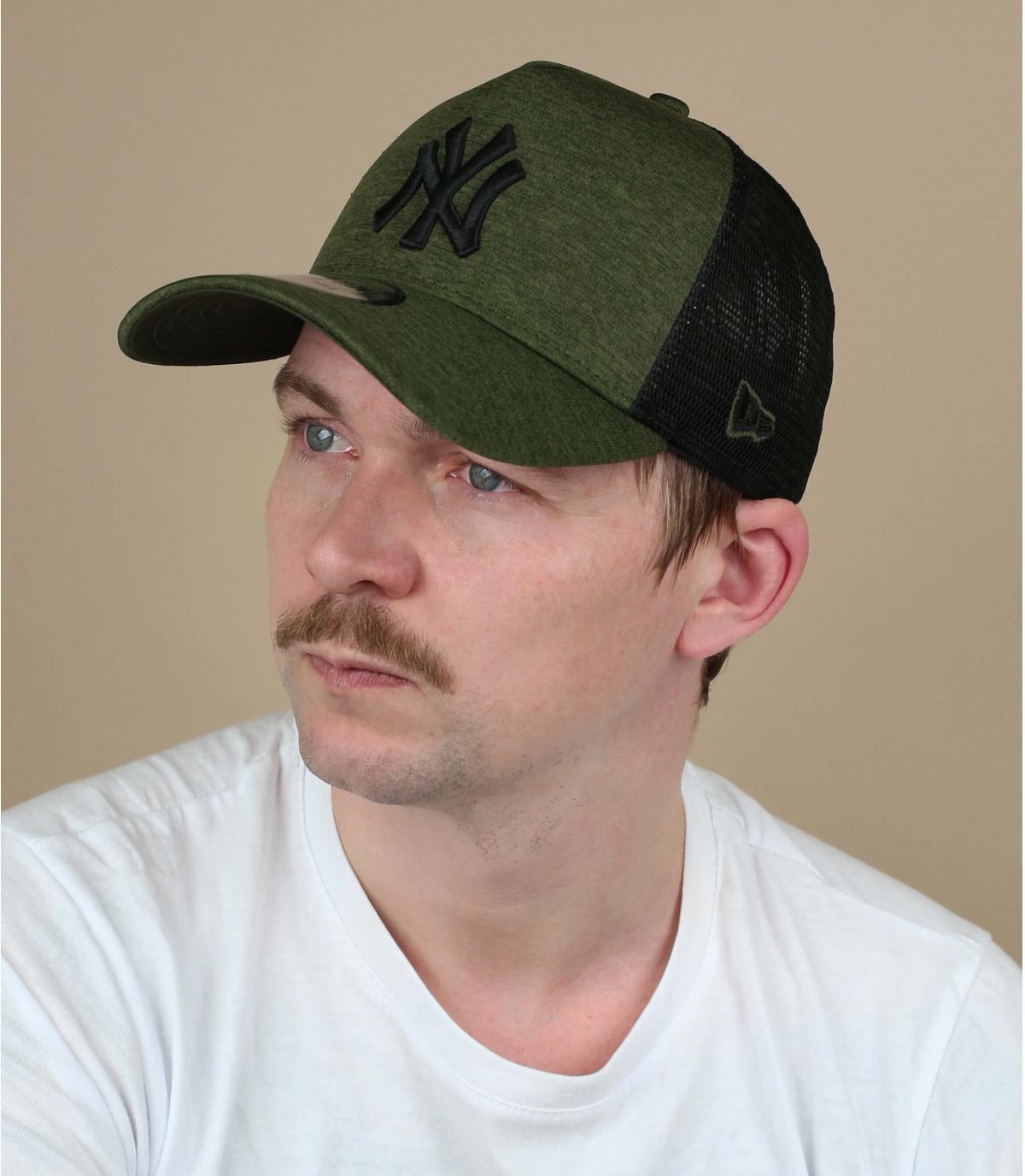 zwart groen NY trucker