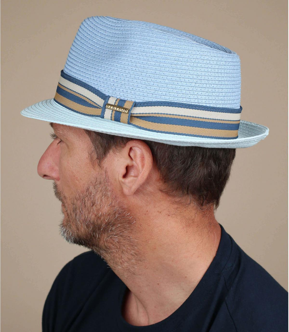 Stetson blauwe trilby
