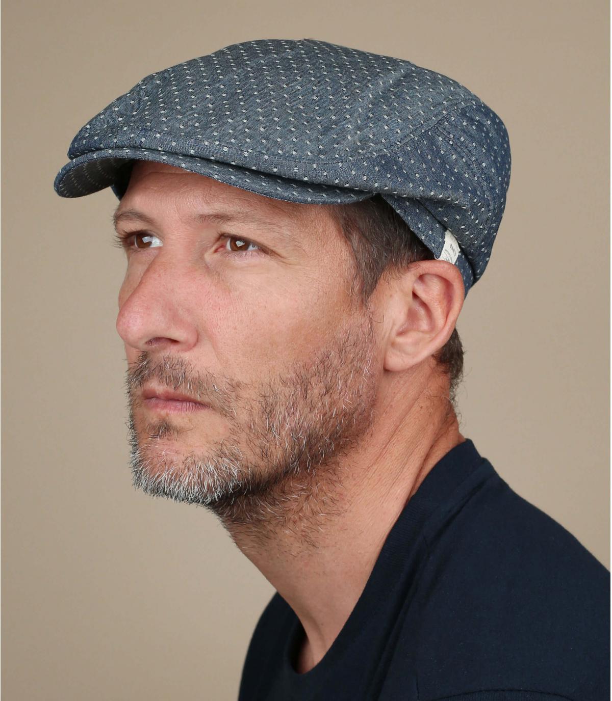 katoenen linnen denim baret