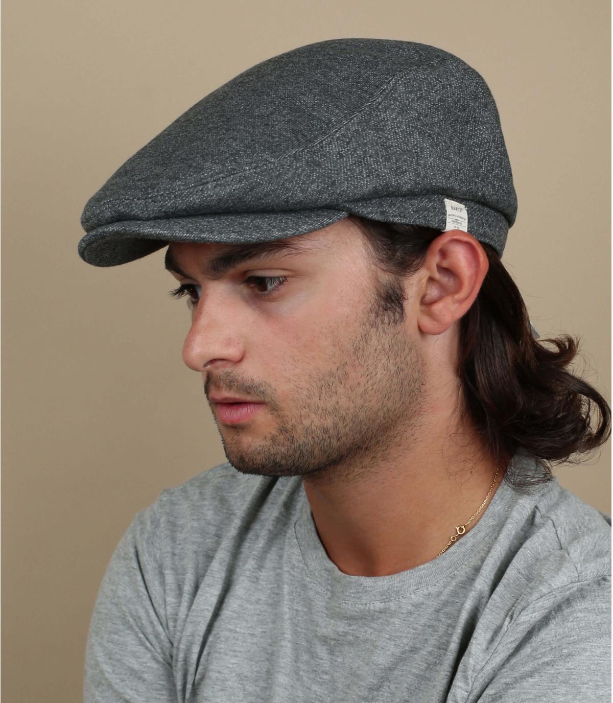 katoenen linnen grijze baret