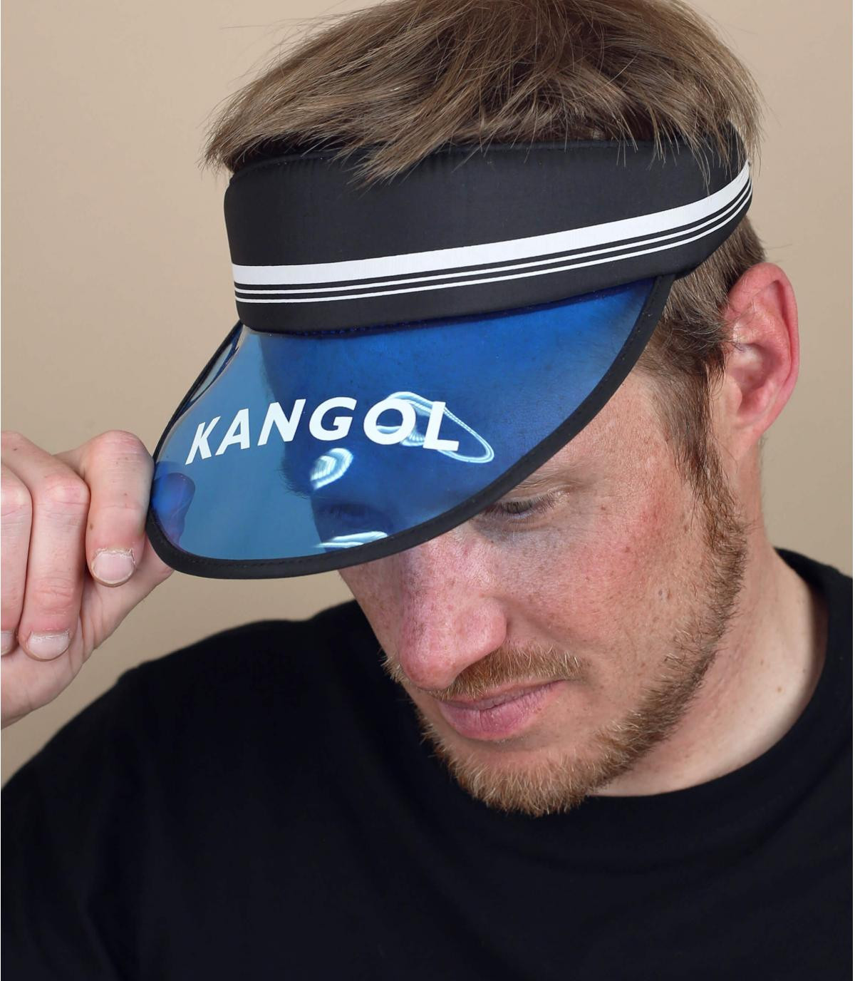 Kangol blauw zwart vizier