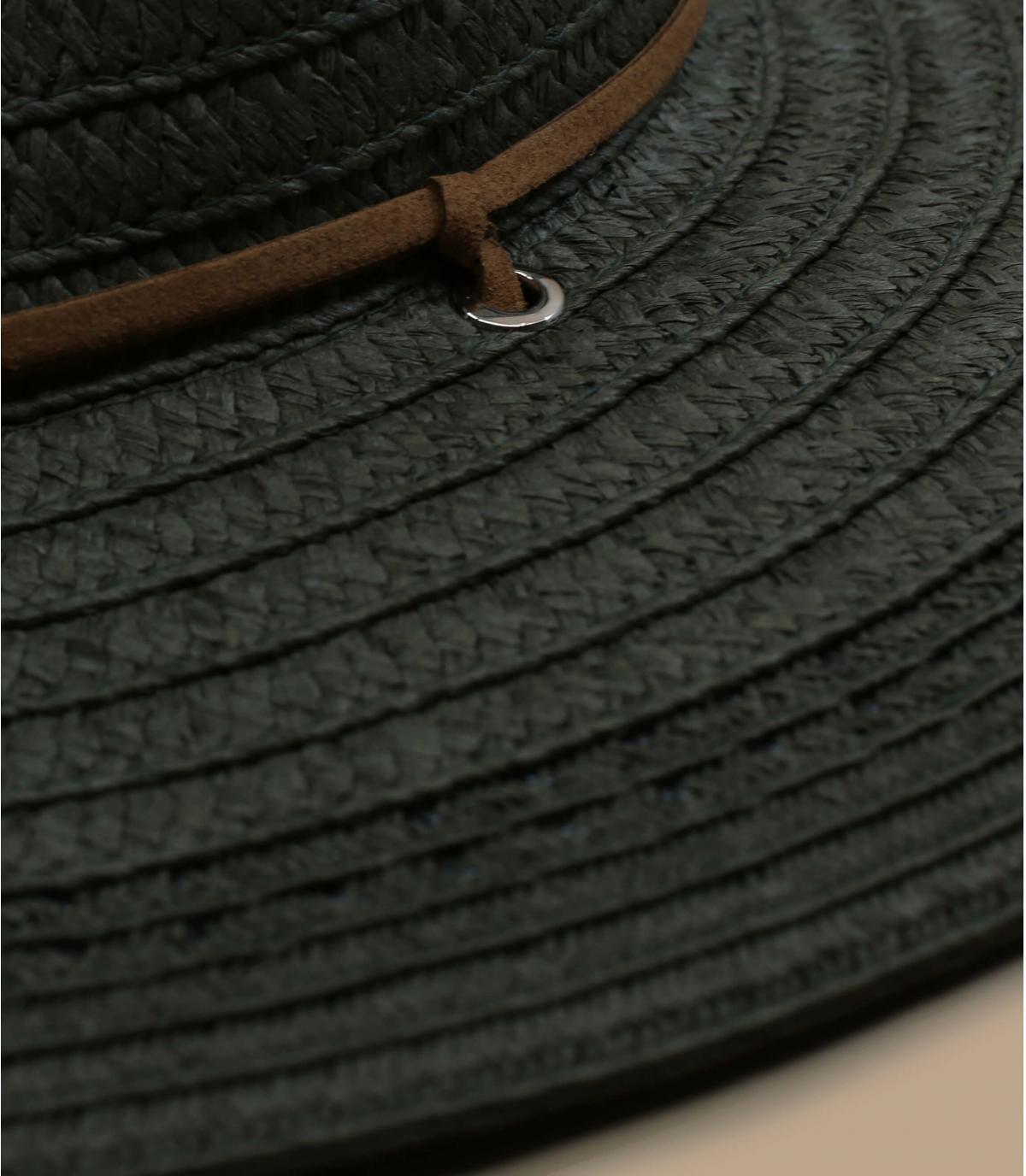 Details Fedora leather band khaki - afbeeling 2