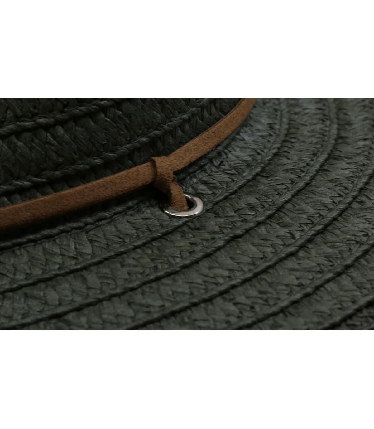 Details Fedora leather band khaki - afbeeling 3