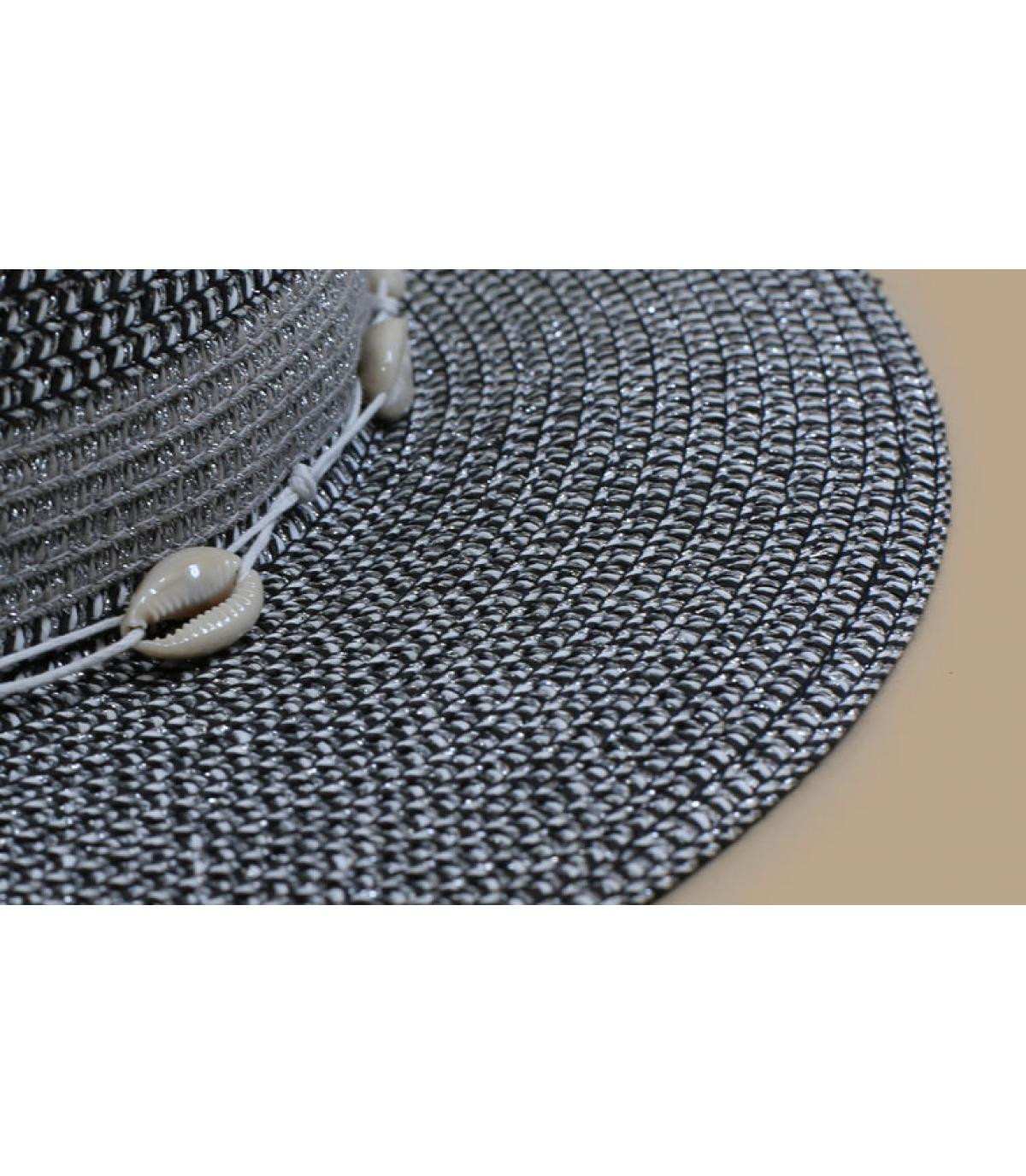 Details Fedora shiny melange black light grey - afbeeling 3