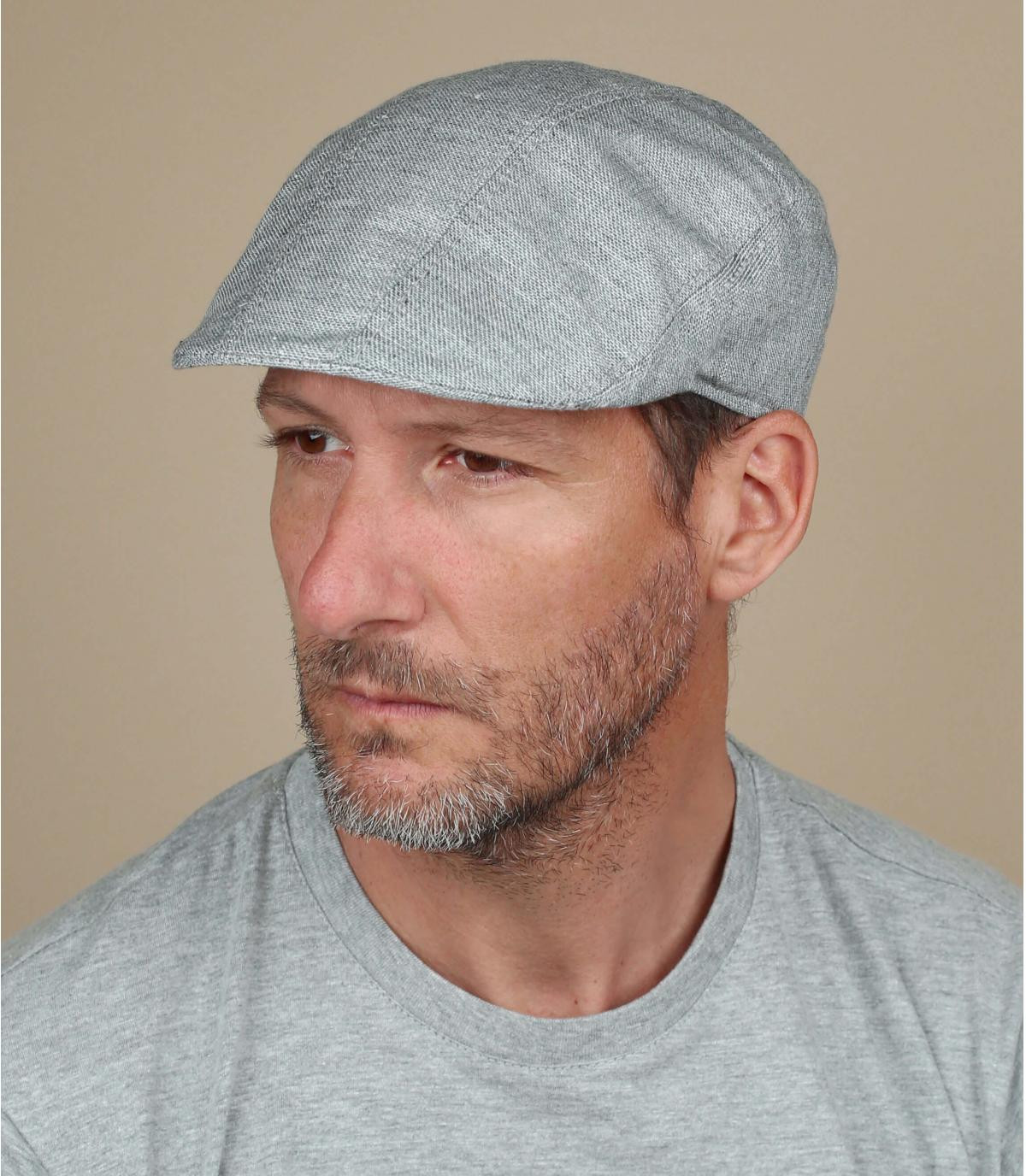 grijze katoenen baret