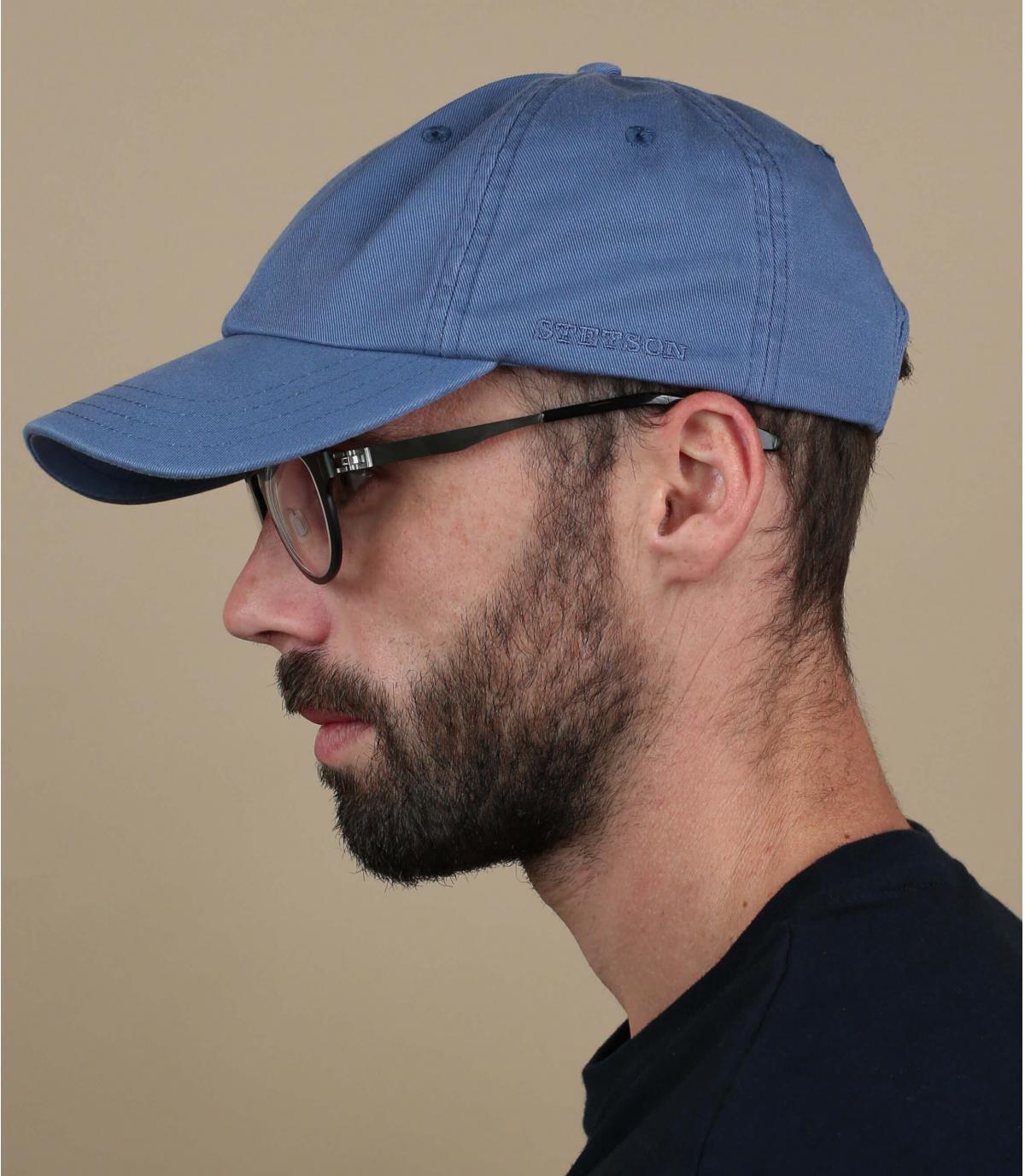 Baseball cap Stetson blauw
