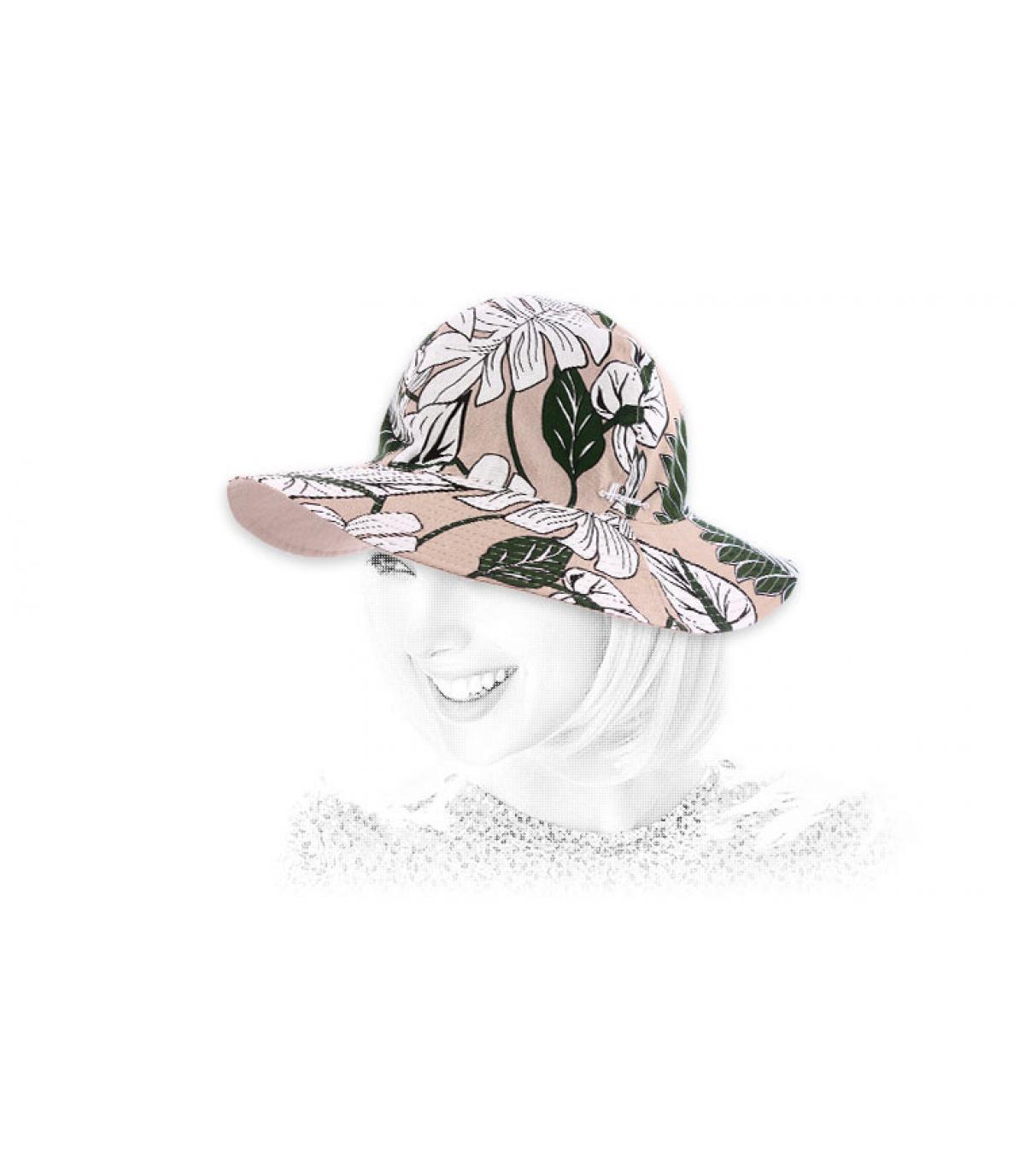 katoenen hoed met bloemenprint