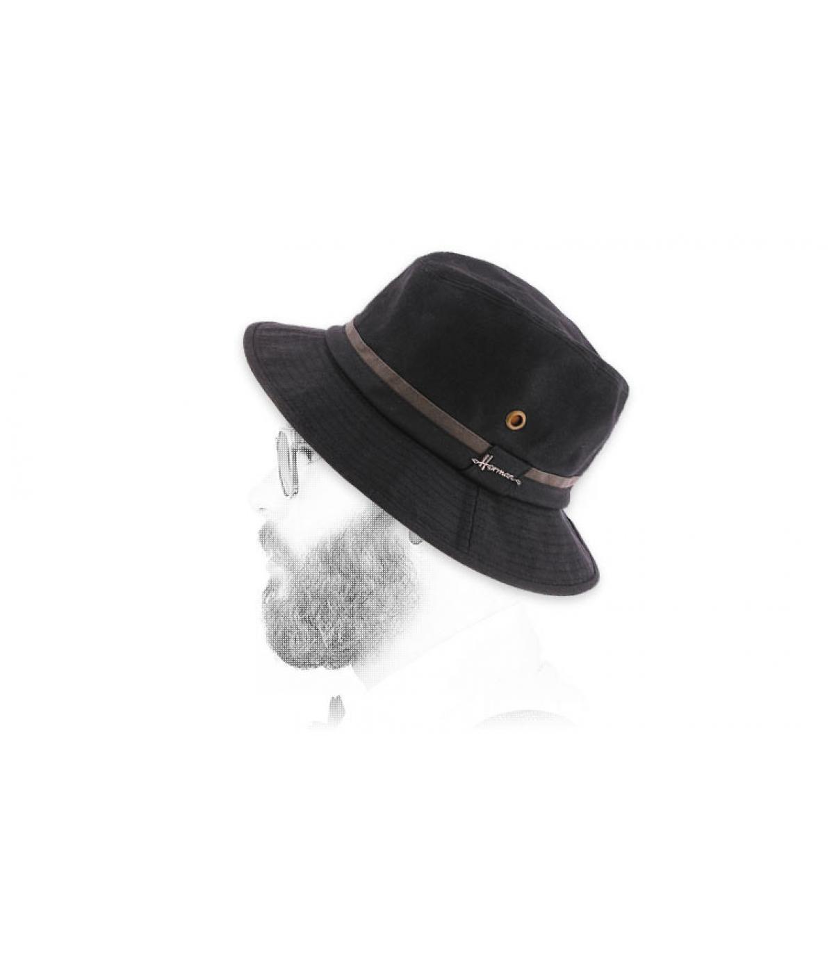 zwart gecoate katoenen bob