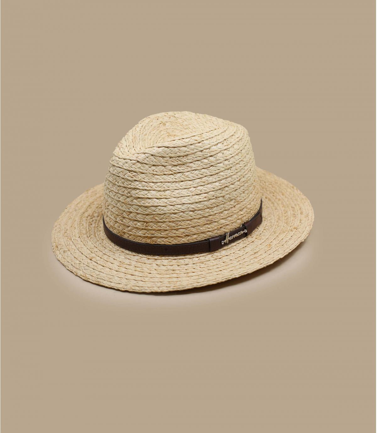 strooien hoed met brede rand