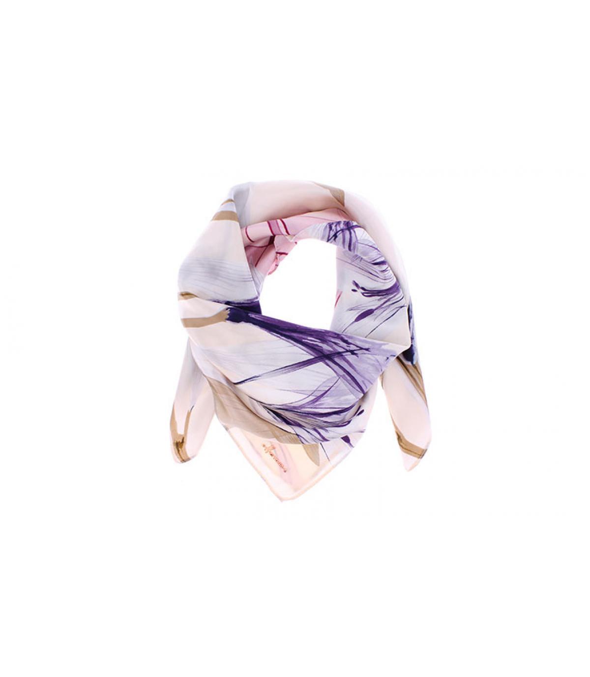 roze vierkante sjaal met print