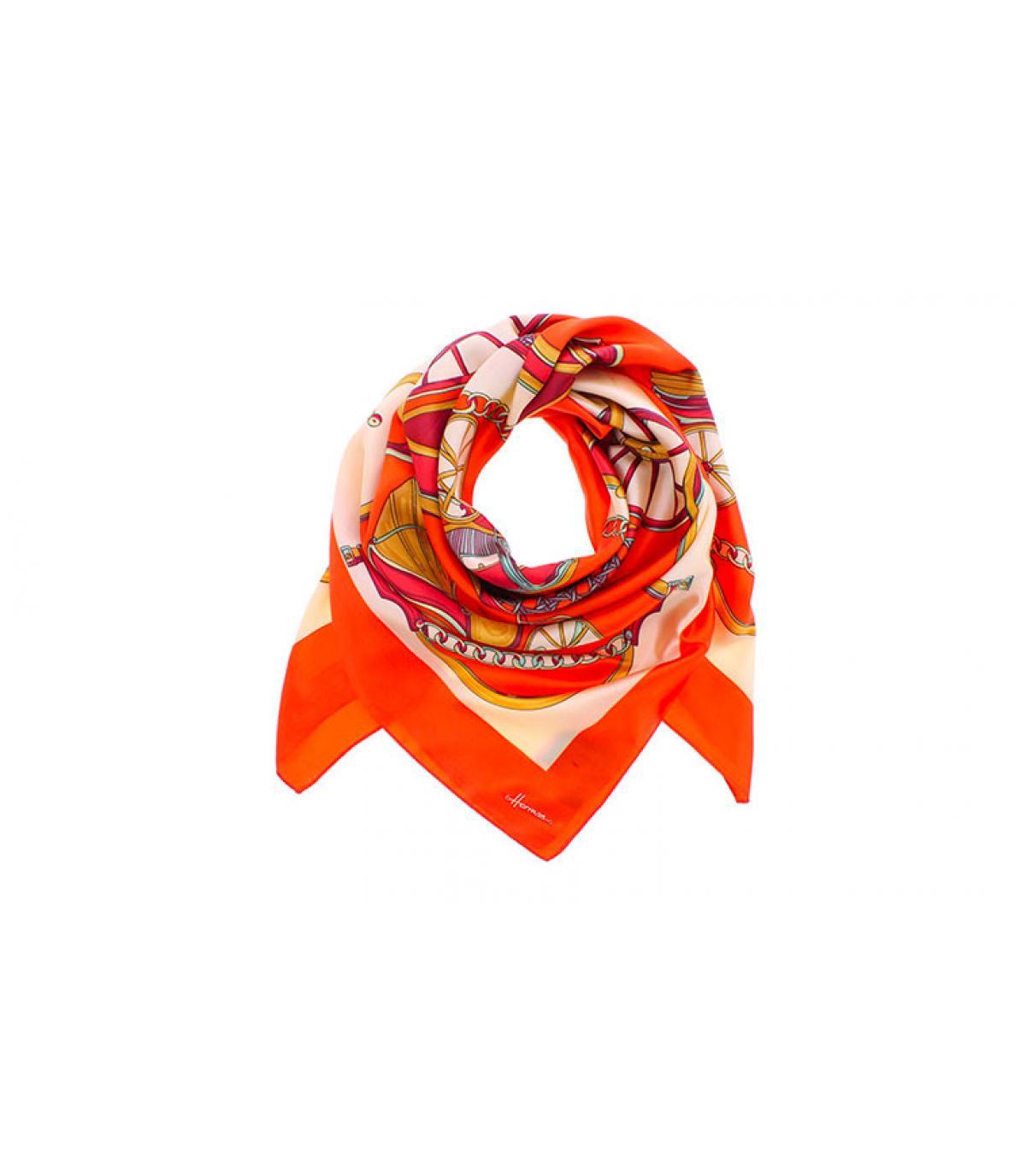 oranje vierkante sjaal