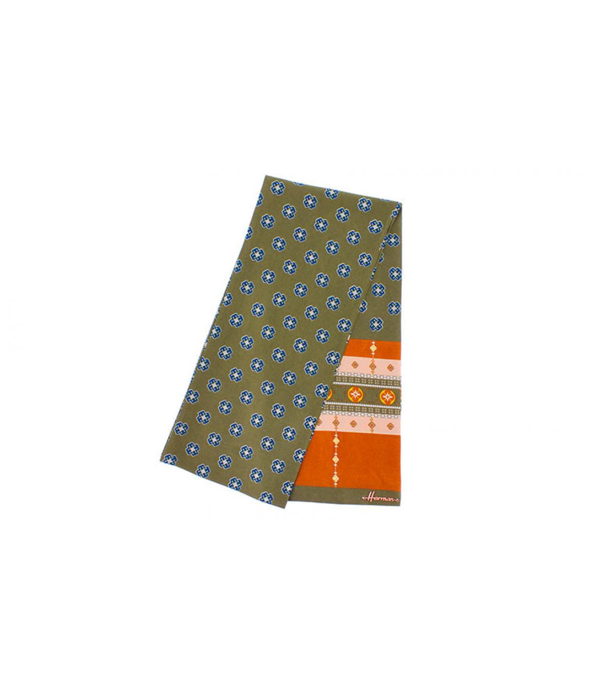 groen oranje vierkante sjaal