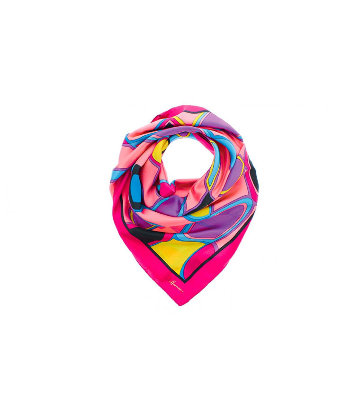 roze vierkante sjaal