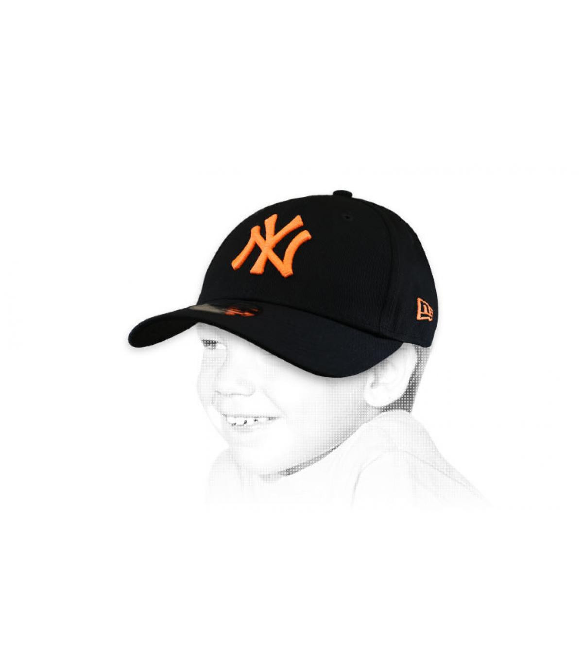 NY oranje zwarte kinderpet