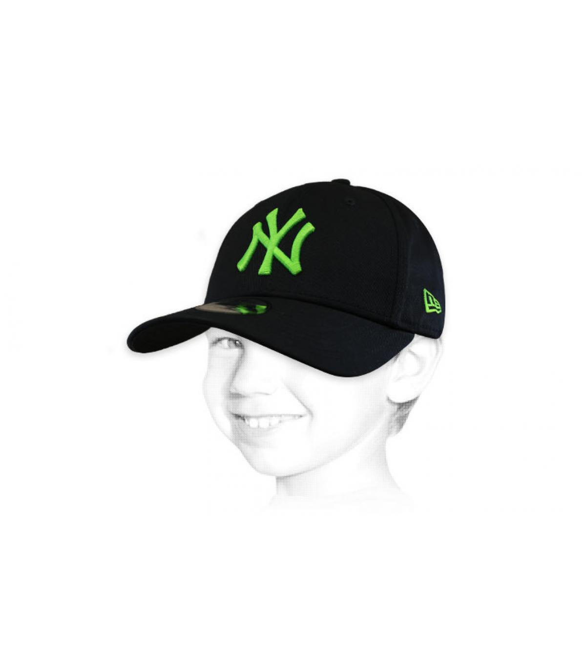 NY pet kids zwart groen