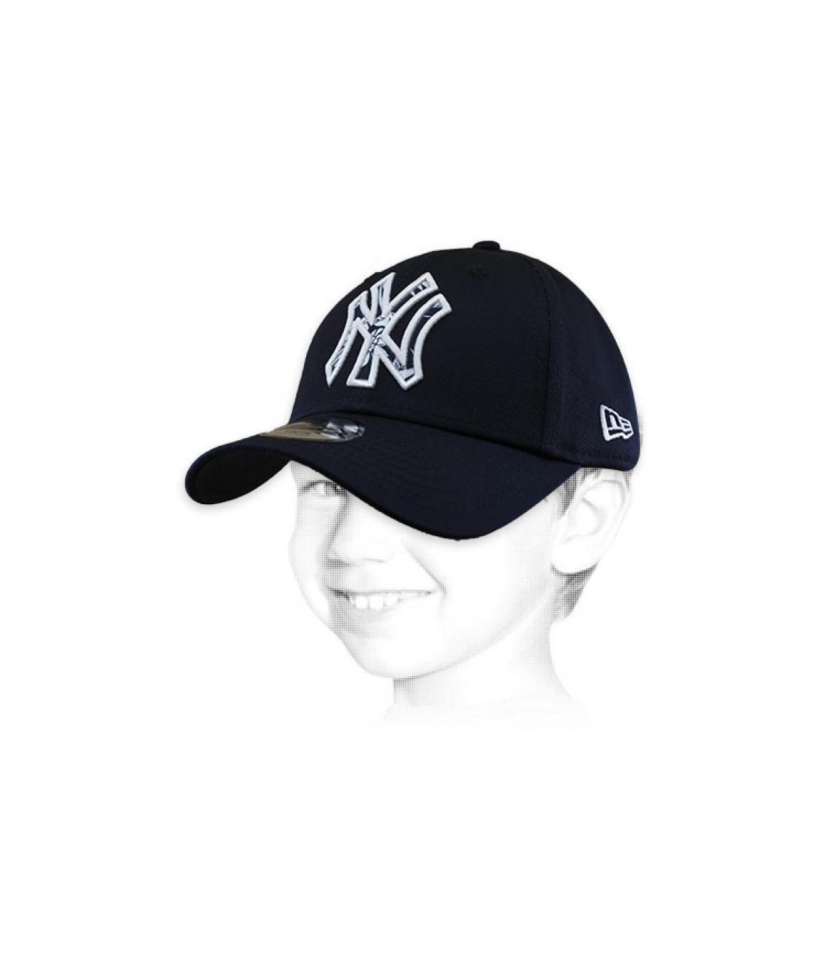 blauwe NY cap