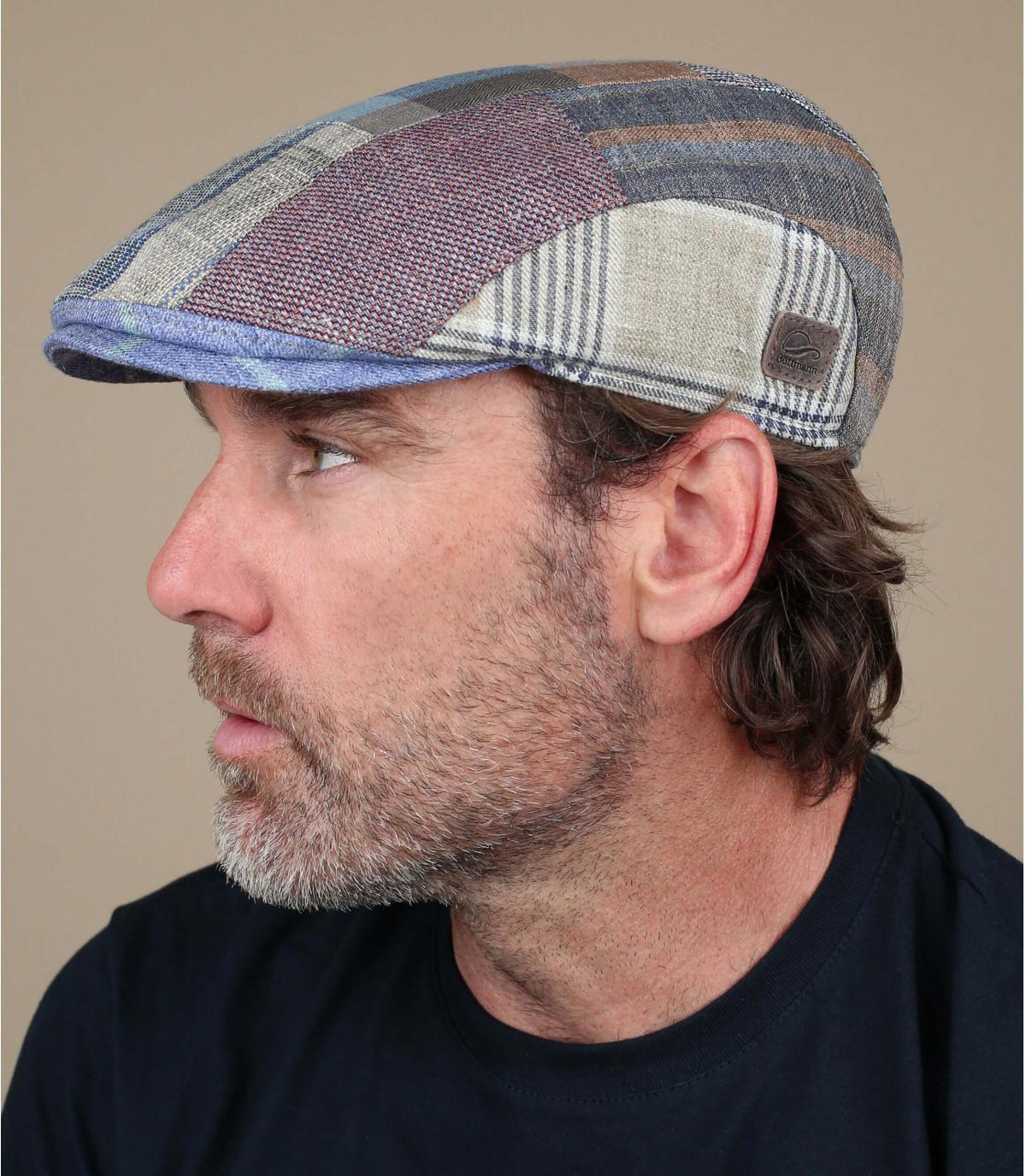 linnen patchwork baret