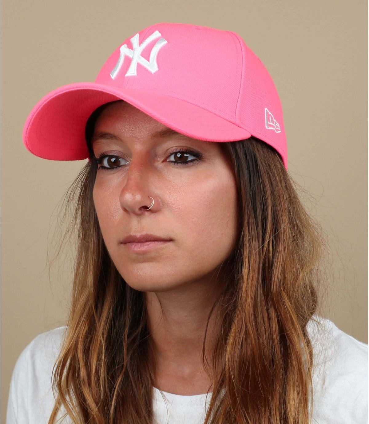 NY neon roze pet