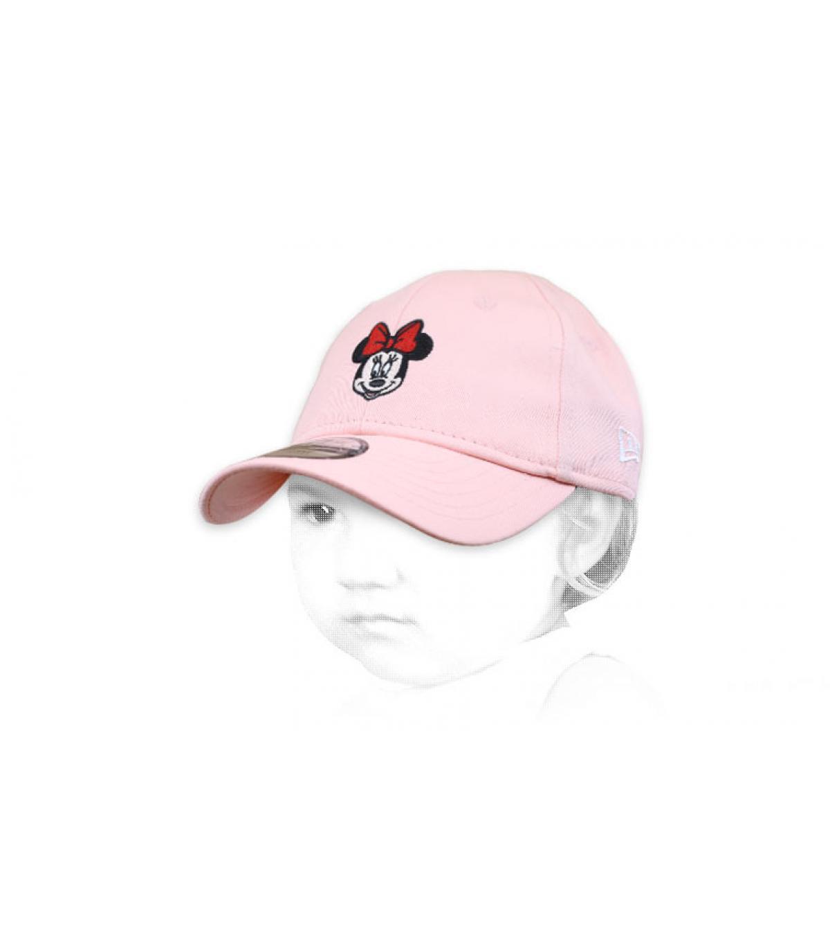Roze babymutsje Minnie