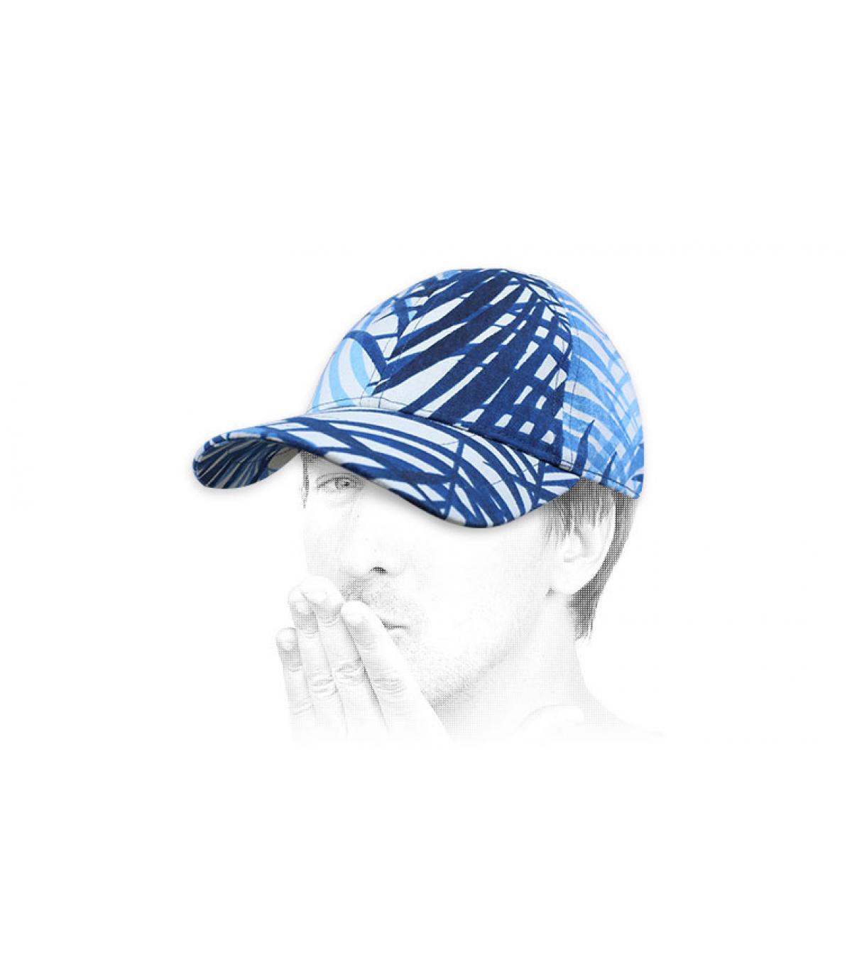 blauw witte Chapoté cap