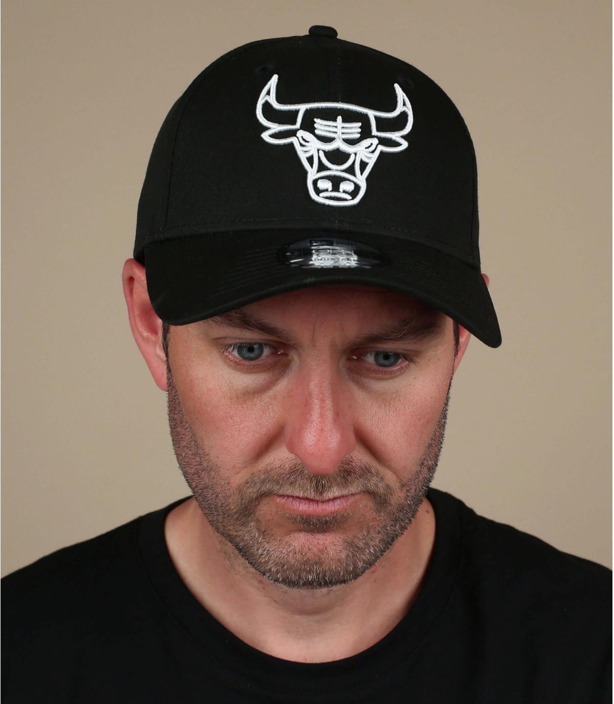 zwart witte bulls cap