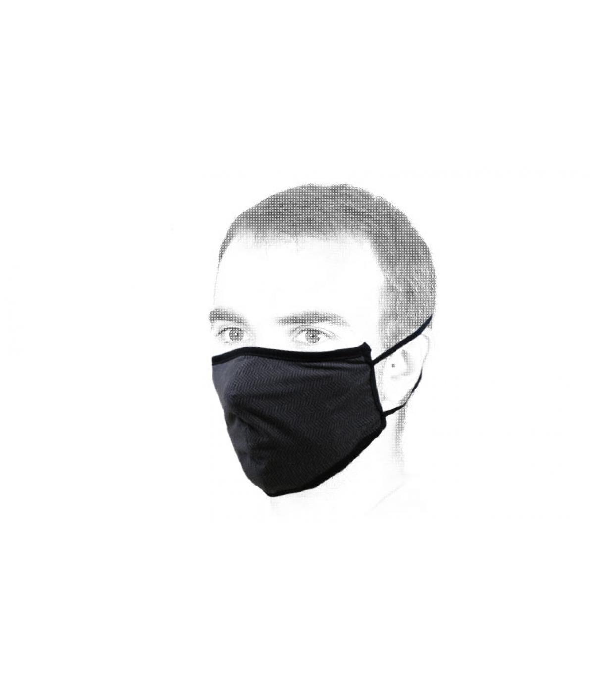 zwart Brixton masker