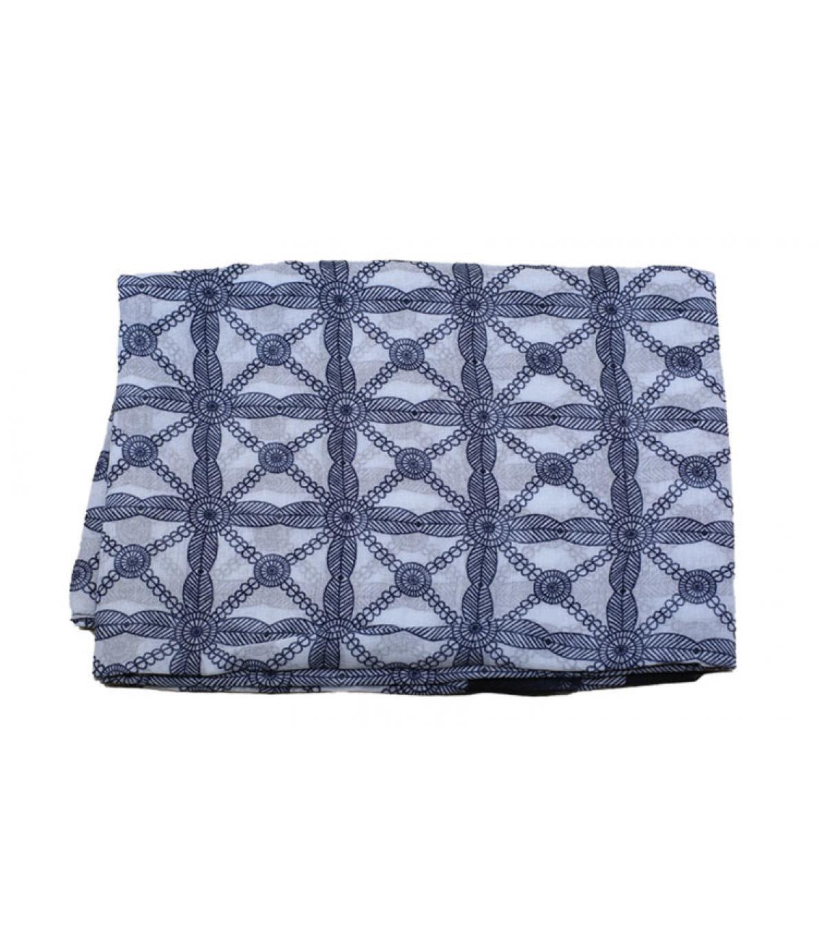 blauw wit sjaalpatroon