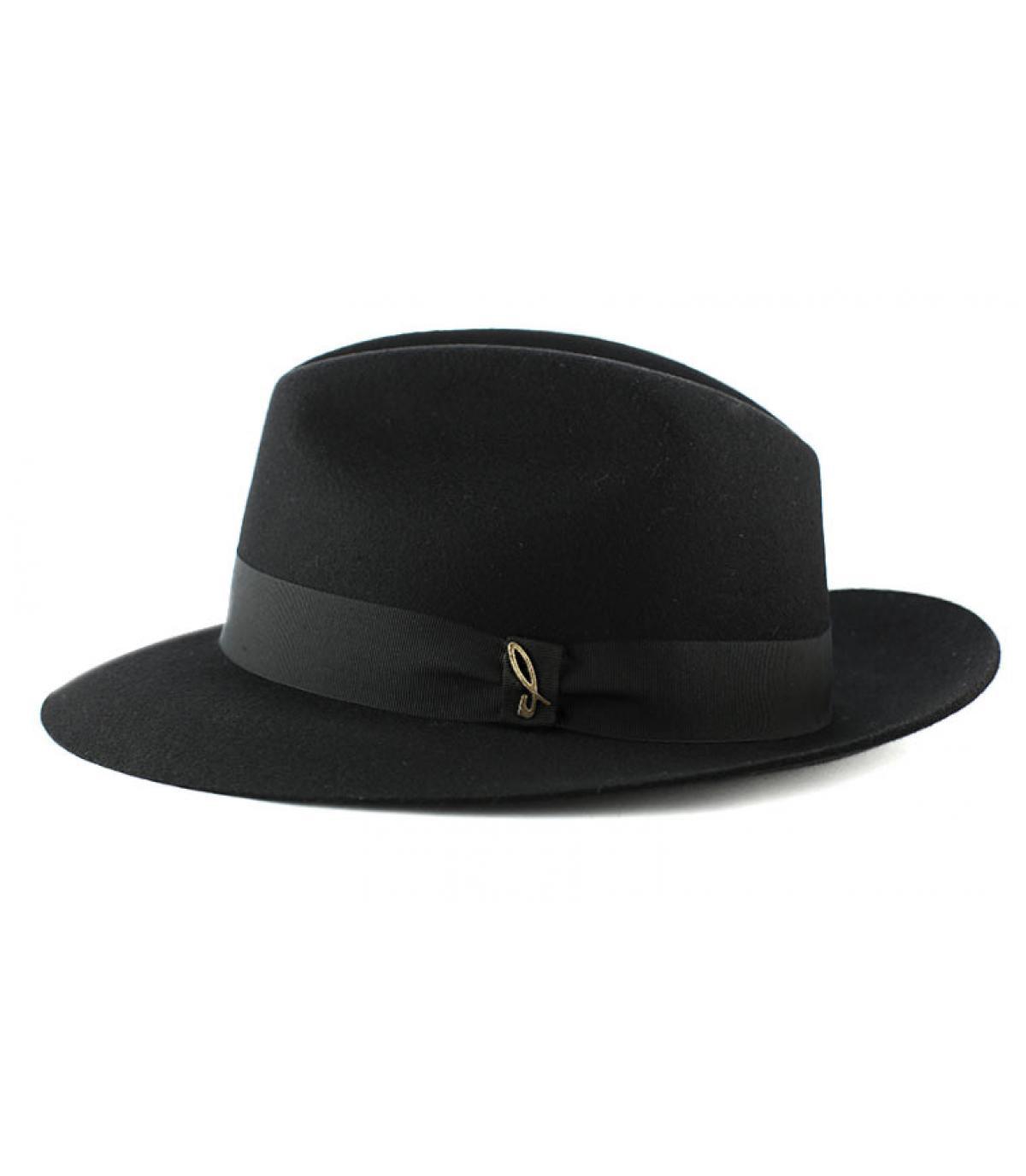 Doria zwart vilten hoed
