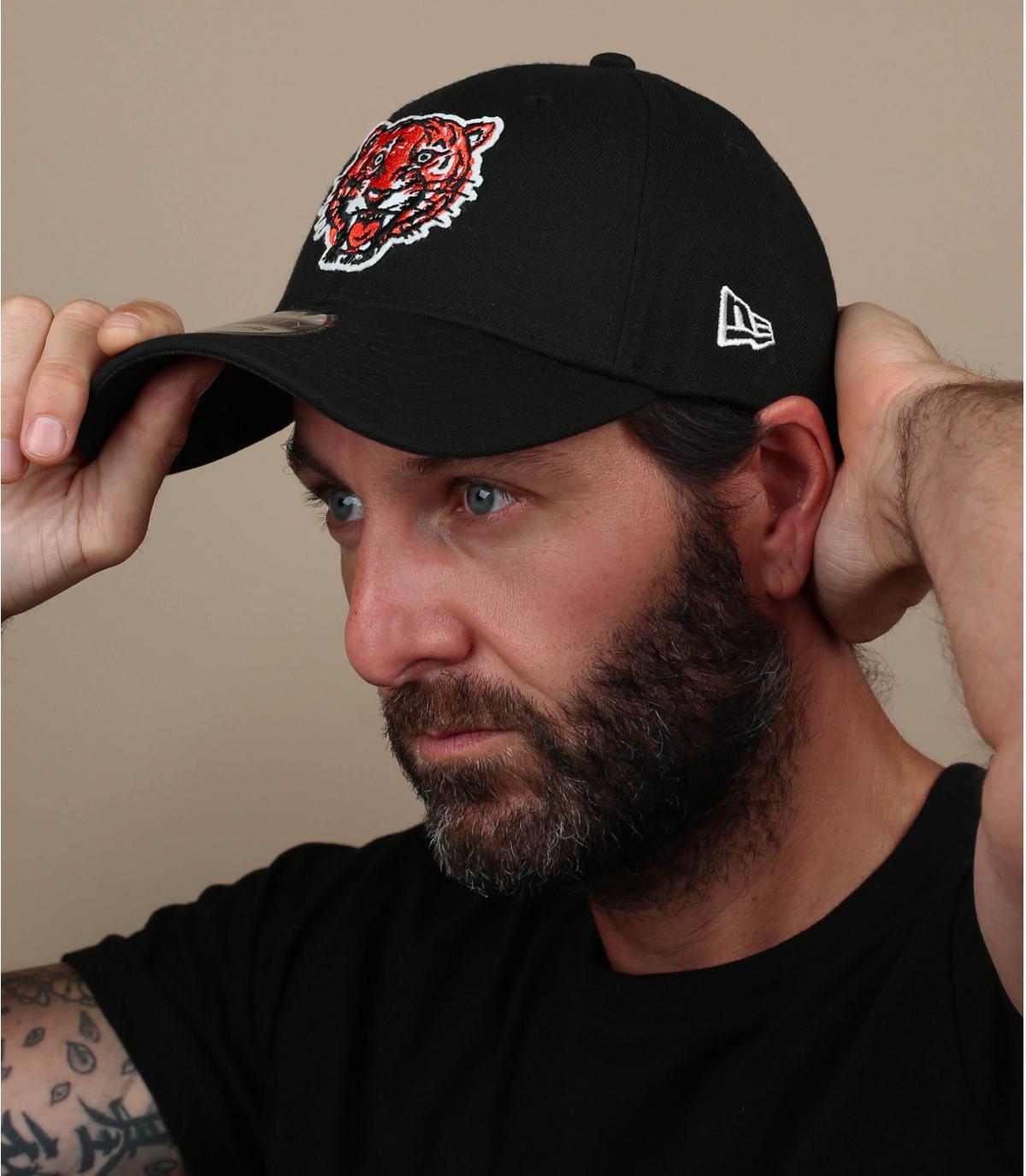 zwarte Detroit tiger cap